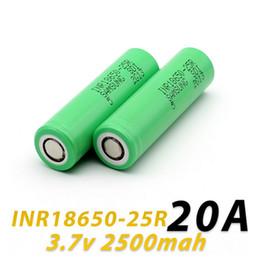 cargador de restaurante Rebajas Auténtica batería 2500mah 18650INR 25R M 18650 con batería de litio Samsung Informe MSDS - Baterías recargables 2500mah 20A para 18650 Ecig