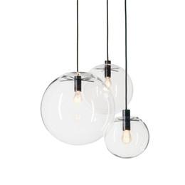 Deutschland Designer Glas Kronleuchter Lichter E27 110 V 220 V 15 cm 20 cm 25 cm 30 cm Rundglas Lampenschirm Loft Pendelleuchten Moderne Beleuchtungskörper supplier led circular chandelier Versorgung
