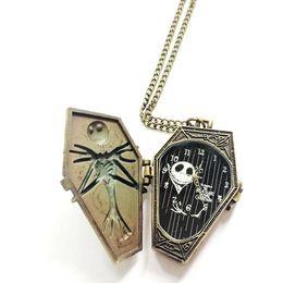 Wholesale Pocket Poker - Xiniu mens pocket watch Poker Pattern Style Quartz Necklace Pendant Chain Clock Pocket Watch Train Valentine's day gifts#YW