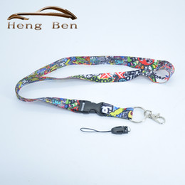 Wholesale Jdm Phone - HB 1Pcs STICK BOMB I Love JDM TOY Graffiti JDM Lanyard For Key Phone w  iLL Fresh As Fck Domo Shocker, etc Nos Turbo