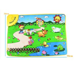Wholesale Toys Play Gym - New learn&education Music Sound Farm Animal Touch baby Play Singing mat baby gym carpets for children toy developing mat 70*50