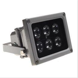 Ao ar livre à prova d 'água IP65 6 pcs LED Infravermelho Night vision iluminador Lâmpada com Fotocélula (Sensor de Luz) Interruptor de Luz de Preenchimento para Câmera de CCTV de