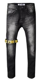 pantalones vaqueros modelos hombres Rebajas 2018 nuevo modelo 12 hombres Retro Jeans con cremallera Biker Jeans hombres Slim Destroyed Torn Ripped Denim Pant