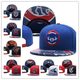 Wholesale news free - 2018 News baseball Adjustable Snapbacks Hip hop Flat hat Sports Team The High quality embroidery Caps For Men And Women Free shipping