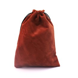 Wholesale Small Velvet Jewelry Pouches - Wholelsale 100pcs lot 7x9cm Coffee Velvet Bag Small Charms Earrings Jewelry Packaging Bags Cute Velvet Drawstring Pouch Gift Bag