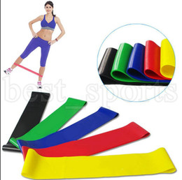 Wholesale latex resistance bands wholesale - 5PCS Set Resistance Band fitness 5 Levels Latex Gym Strength Training Rubber Fitness Equipment Sports yoga belt Training Band KKA5225