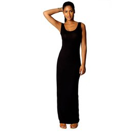 8a80beb746 Vintage Women Maxi Dress Tank Sleeveless Bodycon Slim Cheap Solid 5 Color  Summer Party Female Robe Dresses Vestido cheap bodycon slimming dresses on  sale