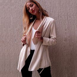 Wholesale Cowl Blouses - The new Europe blouses long sleeved cardigan new autumn jacket casual jacket