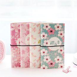 Creativo romantico Cherry Blossom PU Leather Cover Planner NotDiary libro Notepad ufficiale per bambini regalo di cancelleria supplier cherry covers da coperture di ciliegio fornitori