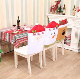 2018 Esstisch Sthle Abdeckungen Hohe Qualitt Weihnachten Dekoration Lieferungen Home Party Bunte Stuhlabdeckung Abendessen