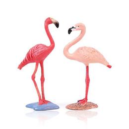 Modelo estático online-Nuevo Flamingo Toy Garage Kit Decorar Juguetes Ornamento de la torta Simulación Knickknack Estático State Garden Animal Model 5 5zx jj