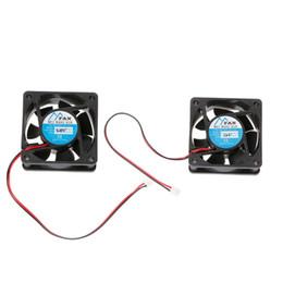 ventilador sin escobillas 24v Rebajas 60mm x 60mm x 25mm DC 12V 24V 2-Pin Cooler Brushless PC CPU Caso Ventilador Ventilador 6025
