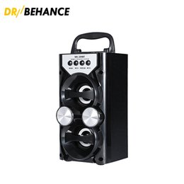 Wholesale High Output Speakers - LED MS-209BT Portable High Power Output FM Radio Wireless Stereo Bluetooth Speaker Supports Volume Control AUX FM TF Card
