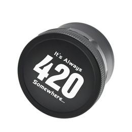 vape skins sigelei Desconto 420 Logotipo Aeronautic Alumínio Herb Moedor De Metal Seco 63mm de Diâmetro 4 Camadas Moedores de Ervas Frete Grátis DHL