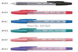 Wholesale Pilot Pens - 12pcs lot Pilot BallPoint Pen BP-SF 6 colors choose Japan standard pen office and school stationery Free Shipping