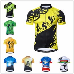 Outdoor Cycling Jersey Mens bike clothing bicycle Ropa Ciclismo maillot road  MTB jersey youth mountain bike 2018 Yellow a11c1ed59