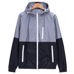 2018 новая осень мужские куртки-бомберы контрастного цвета легкие куртки пальто мужские случайные тонкий стенд воротник куртки мужчины ветровка D18101006 от