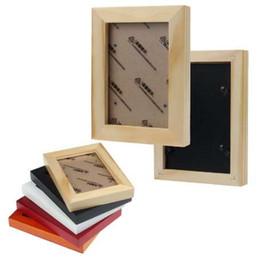 Quadros de suspensão de madeira on-line-Quadro de suspensão fixado na parede de madeira da foto da forma da decoração home