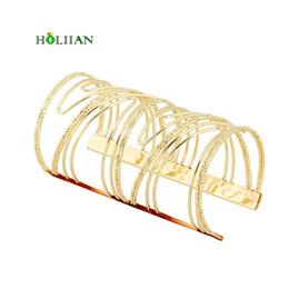 Wholesale Bracelet Imitation Jewellery - whole sale2017 new carter love bracelet&bangles wide wrap geometric upper arm cuff Gold-color egyptian women jewellery indian pulseiras