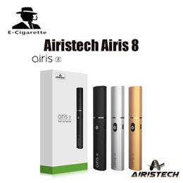Wholesale Dual Slim - 100% Original Airistech Airis 8 Dual Function Dab kit Dip Wax Vape Pen Vaporizer 400mah Battery Capacity Slim and Portable DHL free shipping