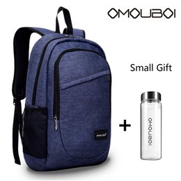 Wholesale stylish bags for men - Multi-function Pockets Travel Backpack Leisure Laptop Backpack with USB Charging Port Stylish School Bag With Water Cup For Mens Women Blue