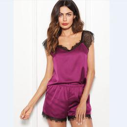 2pcs set Women Silk Satin Shorts Robe Sleepwear Babydoll Nightwear Pajamas  Sets Summer 14658d9e5
