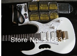 Wholesale electric guitar solid - Free shipping IBZ white JEM 7V Steve Vai DiMarzio pickup Electric Guitar