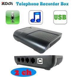 telefone de casa rosa quente Desconto 2 ch monitor de telefone USB telefone monitor de log do telefone USB gravador de telefone multi-REMOTO MONITOR função