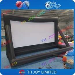 Wholesale outdoor advertising screens - free air ship to door,300inch oxford cloth giant outdoor advertise inflatable movie back projection screen for display