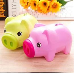caja de metal android tv Rebajas ¡¡¡Ventas!!! Cartoon Piggy Bank Cute Children Money Box Caja de ahorro de regalo de cumpleaños Jar jar 3 Candy Color Pig Saving Box Monedas Ahorro hucha Coche