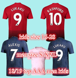 d69eb181d Thailand Alexis sanchez POGBA man soccer jersey 2019 LUKAKU RASHFORD football  kit Top jersey UTD jersey 18 19 ADULT shirt KID SET uniform