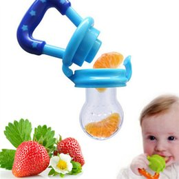 Wholesale baby funny nipples - Baby Funny Pacifiers Silicone Kids Drinkware Fresh Food Feeder Feeding Nipple Dummy Fruits Nibbler Soother Bottle Clip Chain