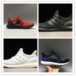 Wholesale triple core - 2018 newest ultra boost 4.0 3.0 core Triple Black white Primeknit Runner fashion ultraboost Running sports shoes men women Casual sneaker