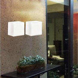 Wholesale Wholesale Led Wall Art - LED Wall Light Glass Wall Lamps Modern White Sugar Ice Cube Backdrop Light For KTV Bar Room Asile Ice Brick Lamp