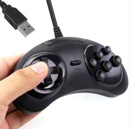 Controlador sega online-Hot Classic Wired 6 botones SEGA USB Classic Gamepad USB Game Controller Joypad para SEGA Genesis / MD2 Y1301 / PC / MAC Mega Drive