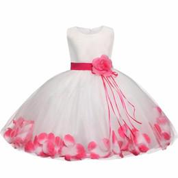 Canada Tutu Fleur Bébé Robe Pour La Fête De Mariage Sans Manches Infantile Bébé Pétale Robes Pour 1 Ans En Bas Âge Fille D'anniversaire De Baptême Vêtements Offre