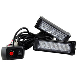 HEHEMM Car Vechicle Emergenza Strobe Flash Warning Lamp 12V 8 LED Lampeggiatori Rosso Blu Bianco Giallo da luci a led blu lampeggianti 12v fornitori