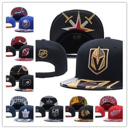 Wholesale Skiing Hats - 2018 ice hockey Adjustable Snapbacks Hip hop Flat hat Sports Team The High quality embroidery Caps For Men And Women A