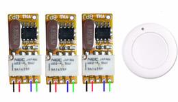 telecomando 9v Sconti Microinterruttore senza fili del ricevitore del relè del commutatore controllato radiofonico di CC 3.5v 3.7v 4.5v 5v 6v 7.4v 8.4v 9v 12v