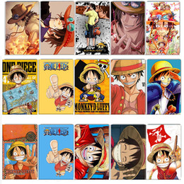 Wholesale Bus Bank - 50 pcs lot ONE PIECE Card Sticker Toys Japanese Anime Luffy Zoro DIY Bank Bus ID Card Stickers Kids Party Classic Toy Gift