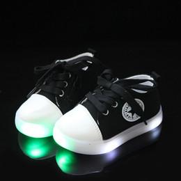 Eleganti scarpe di tela online-2018 Nuova marca tela alta qualità unisex bambino scarpe casual HookLoop moda bambino sneakers Elegante ragazze incandescente ragazzi scarpe