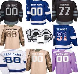 611808806 5xl hockey jerseys 2019 - 100th Limited Patch 2018 Custom Tampa Bay  Lightning New Third Men