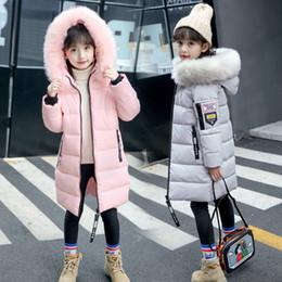 Maternité pour enfants Vêtements pour enfants hiver nouvelle grande coton filles longue veste en coton col de fourrure ? partir de fabricateur
