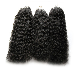 Argentina New Virgin Mongolian Afro Kinky Curly Hair 300s Aplicar Extensiones de Cabello Natural Link Micro Link Humano 300g Micro Bead Extensions cheap apply hair extensions Suministro