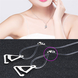 4e2e3a08216 clear bra straps 2019 - 1 Pair New Invisible Adjustable Bra Resin Clear  Transparent Hook Straps