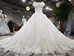 Wholesale Dresse Wedding Ball - 100% Real Photos Robe De Mariage Luxury Bride Dresses 2017 Bridal Gowns Royal Train Lace Appliques Beaded Arabic Wedding Dresse
