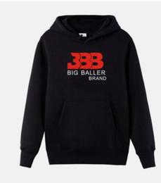 Wholesale Basketball Fleece - NEW 2018 Hot BBB Big baller hoodie autumn and winter Casual hoodie Basketball star Hoodies Sweatshirts Fashion Coat