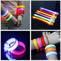 Wholesale night light shop - Cool LED Luminous Arm Bracelet Light Night Safety Warning 3 Modes Bright LED Flash Light For Running shopping cycling Hot!!