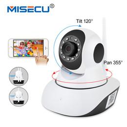 2019 câmera de alerta por e-mail MISECU Pan Tilt 1080 P Wifi Completa de 355 graus de rotação 720 P Câmera de Áudio Sem Fio do Cartão SD Onvif P2P Email alert Night Baby Monitor câmera de alerta por e-mail barato