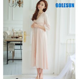 Wholesale Ladies Lounge Sets - Women princess nightdress cotton leisurewear female robe lady sleepwear lounge .Women's gown sets.